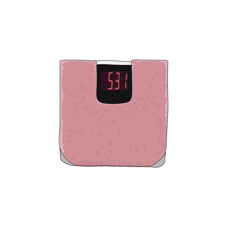 洗える体重計用マット付デジタルヘルスメーター